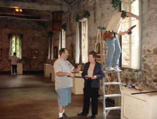 Preserving the antique windows at the Miners Foundry